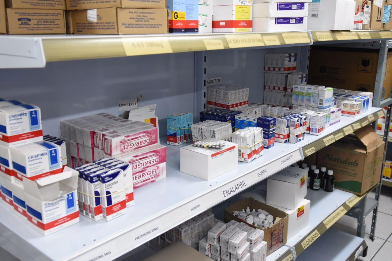 Foram adquiridos mais de R$ 600 mil em Medicamentos